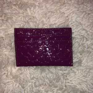 Coach Card Case DARK MAGENTA